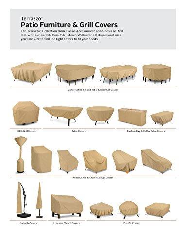 Classic Accessories 53912-EC Terrazzo Grill Cover, Medium