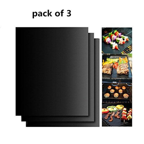 SuperLi Grill Mat Non-stick BBQ Grill & Baking Mats- 13 X 15.75 Inches (black)