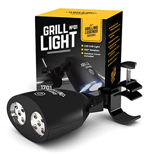 2017 Barbecue Grill Light – BBQ Light for Grilling at Night – Handle Mount Grill Light with 10 Bright LED Grill Lights – Durable and Weather Resistant – Battery Operated – Bonus – Outdoor Cover