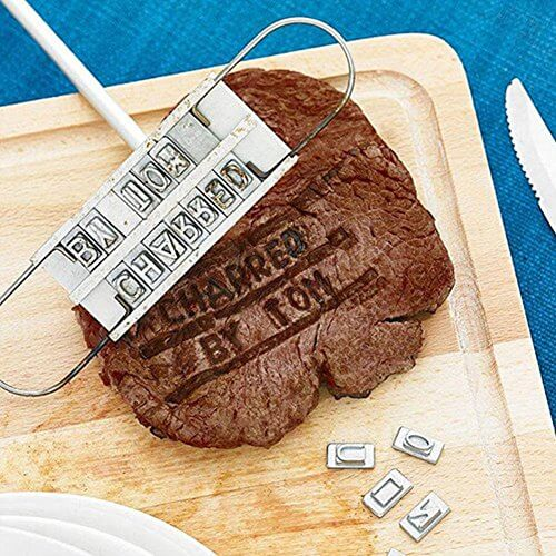 Harlov BBQ Meat Branding Iron with Changeable Letters Outdoor Picnic Patio Grilling Smoking Accessory Quality Grilling Accessory, Grilling Tool,Perfect Outdoor Quality Grilling Accessory