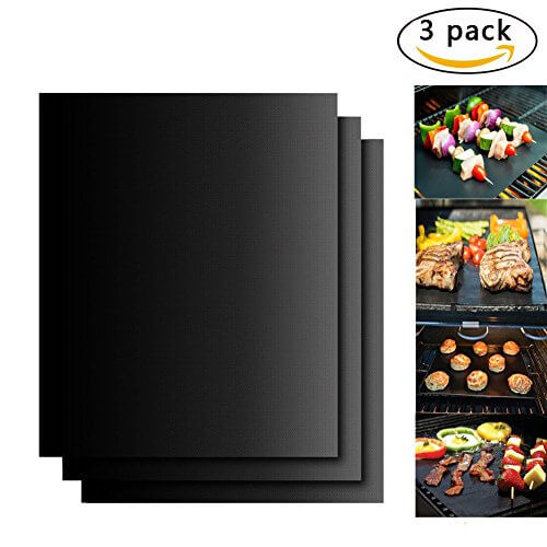 BBQ Accessories Grill Mats,Urgod set of 3 Non-stick Barbecue Grilling & Baking Mat,Reusable and Easy to Clean – Works on Gas, Charcoal, Electric Grill and More – 15.75 x 13 Inch