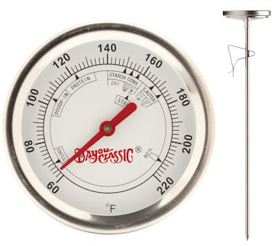 BREW THERMOMETER SS12″ by BAYOU CLASSIC MfrPartNo 800-772