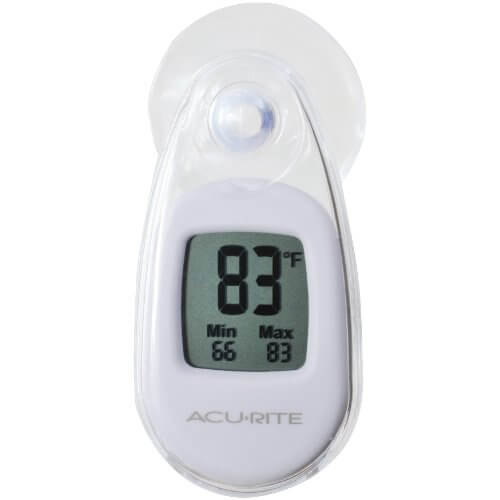 AcuRite Suction Cup Thermometer, White
