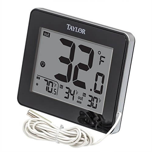 Taylor Precision Products Wired Digital Indoor/Outdoor Thermometer