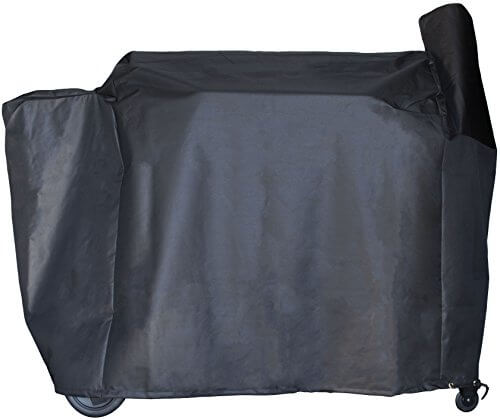 Pellet Grill Smoker Cover for Traeger / Pit Boss – Heavy-Duty – Full Length 42″ x 74″ x 28″ inches – Black