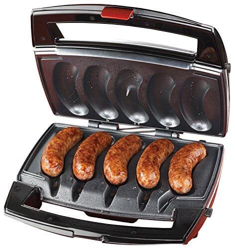Johnsonville BTG0498 Sizzling Sausage Grill, Black/Stainless