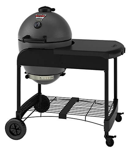 Char-Griller 6520 Akorn Kamado Kooker Charcoal Grill with Cart – Grey