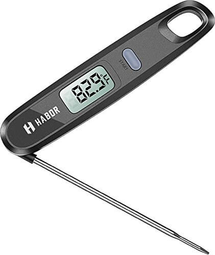 Super Fast Meat Thermometers, Habor Instant Read Thermometers Digital Electronic Food Thermometers with Strong Magnet for Candy, Cooking, Kitchen, Barbecue, Grill Smoker