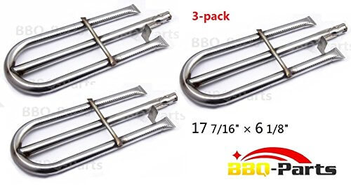 Hongso SBZ191 (3-pack) Perfect Flame 3019L, Perfect Flame 3019LNG Gas Grill Models Stainless Steel Burner Replacement (17 7/16