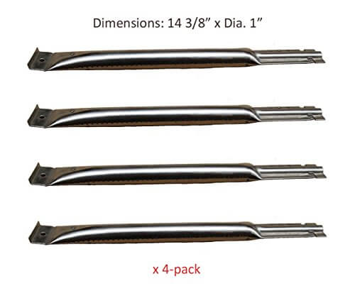 BBQ funland SB5491 (4-pack) Replacement BBQ Pipe Tube Gas Grill Burner for Charbroil, Charmglow, Kenmore, Uniflame, Lowes Model Grills