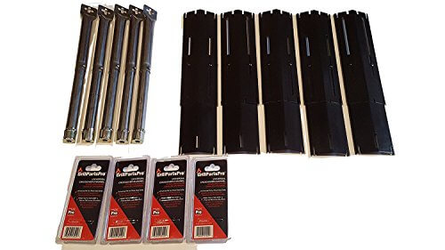 Set of Original Brinkmann Stainless Steel Grill Burners, Heat Plates and Crossover tubes for Brinkmann Grill Models