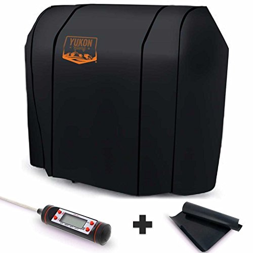 Yukon Glory Original 7569 Premium Cover for Spirit 200/300 Series and Weber Genesis Silver A/B Grills – Equivalent to Weber 7569 Grill Cover – Bonus Meat Poultry Thermometer and BBQ Grilling Matt