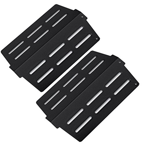 Grillflame Porcelain Enamel Flavorizer Bars (2-pack) for Weber Genesis 300 Series 2011 & Newer Models (Front Mounted Control Panels), 13 1/4 X 8 3/4″ W