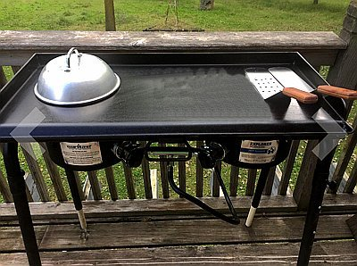 6-Piece Professional Grade Stainless Steel BBQ Grill and Griddle Spatula Set Great for Blackstone, Camp Chef and Other Flat Top Griddles (2 Spatulas, 1 Chopper Scrapper, 1 Tong, 2 Condiment Bottles)
