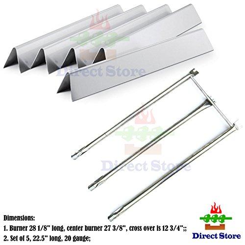 Direct store Parts Kit DG230 Replacement Weber Genesis Silver/Gold B&C, Spirit 700 Grill Burner & Heat Plate (SS Burner + SS Heat Plates)