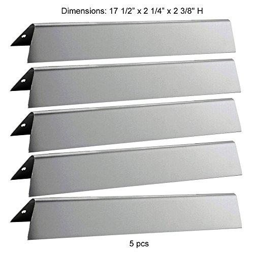 Set of 5 Stainless Steel Flavorizer Bars set Replacement for 300 Series Gas Grills, 17.5″ long (16 Ga.) Aftermarket