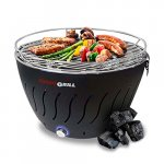 Foggo Grill Smokeless Indoor Grill | Portable Charcoal Electric BBQ w/Battery Operated Fan - Includes Travel Bag for Outdoor Barbeques, Camping, Picnic & the Beach