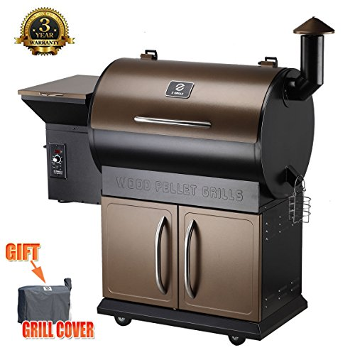 Beau Z Grills Wood Pellet Grill U0026 Smoker With Patio Cover,700 Cooking Area 7 In