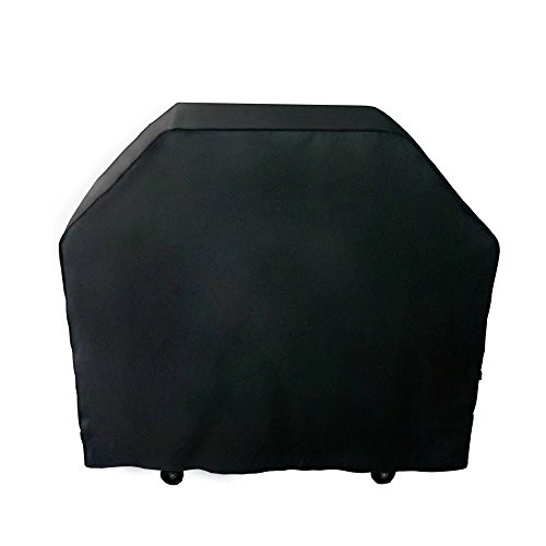 Nextcover Universal Gas Grill Cover, 58 inch 600D Canvas Heavy Duty Waterproof Fade Resistant BBQ Grill Cover for Weber, Char Broil, Holland, Jenn Air, Brinkmann. – Black N21G802