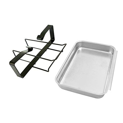 Stanbroil Aluminum Gas Grill Catch Pan and Holder / Grease Collection Pan