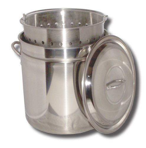 King Kooker KK44SR Ridged Stainless Steel Pot, 44-Quart