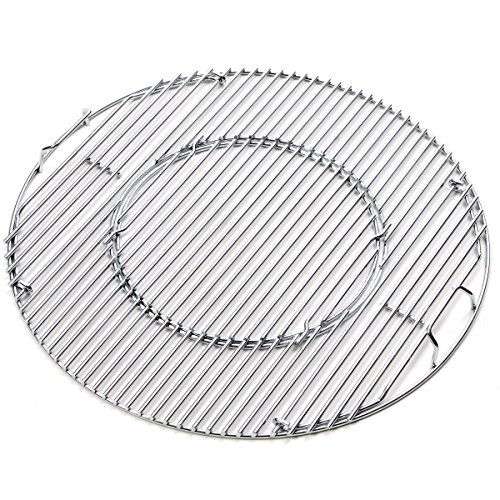 Edgemaster Weber 8835 Gourmet BBQ System Hinged Stainless steel Cooking Grate Fits 22-1/2-inch Weber charcoal grills