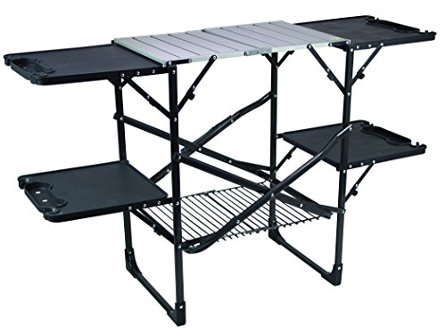 GCI Outdoor Slim-Fold Camp Kitchen Portable Folding Cook Station