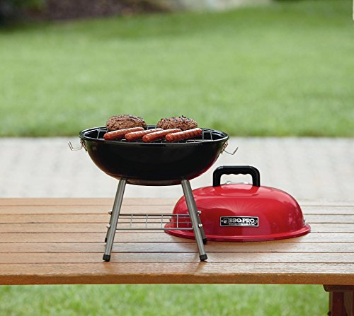 BBQ Pro 14in Tabletop Charcoal Grill – Red