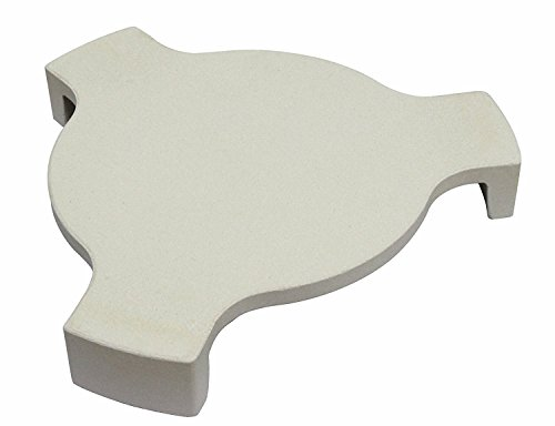 Hongso CR-18-1 NEW Heat Deflector, Plate Setter, Smokin' Stone, Pizza Stone with 3 legs For 18″ Large Big Green Egg Grill, 18″ Kamado Grill