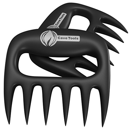 Pulled Pork Shredder Claws – STRONGEST BBQ MEAT FORKS – Shredding Handling & Carving Food – Claw Handler Set for Pulling Brisket from Grill Smoker or Slow Cooker – BPA Free Barbecue Paws