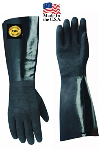 Artisan Griller AG3001T Insulated Heat Resistant Cooking Gloves Pair for BBQ, Grill and Kitchen, 17-Inch Length, Black (Size 10/XL)