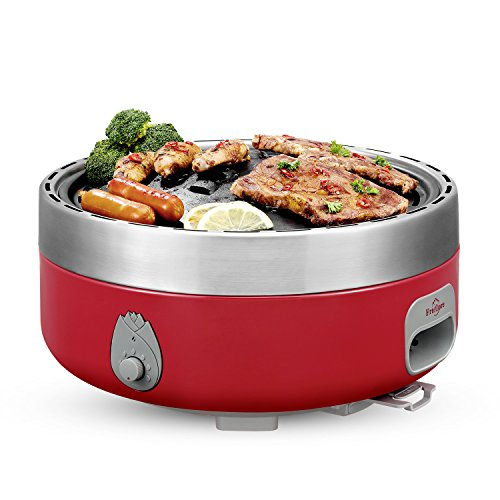 Hibachi Yakinika Charcoal Grill For Yakitori – Outdoor Tabletop Smoke & Smokeless Optional – Power Supplied By Battery Or Power Bank. – With Carrying Bag