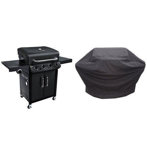 Char-Broil Performance 475 4-Burner Cabinet Gas Grill- Black with Performance Grill Cover, 3-4 Burner: Large
