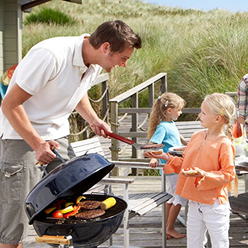 AMZ BBQ CLUB Dad BBQ Grill Set with Carry Case – 4-Piece Includes Spatula, Tongs, Digital Thermometer and Case – Great Gift for Father's Day, Dad's Birthday or Anytime For Dad