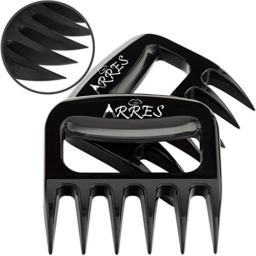 Pulled Pork Claws & Meat Shredder – BBQ Grill Tools and Smoking Accessories for Carving, Handling, Lifting