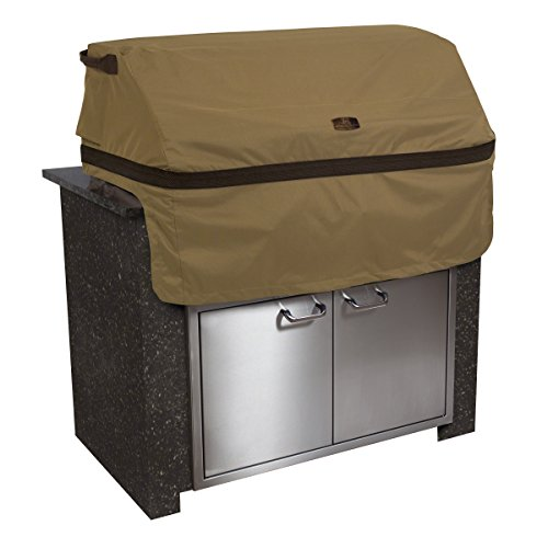 Classic Accessories Hickory Heavy Duty Built-In BBQ Grill Top Cover – Rugged BBQ Cover with Advanced Weather Protection, Medium (55-332-032401-EC)