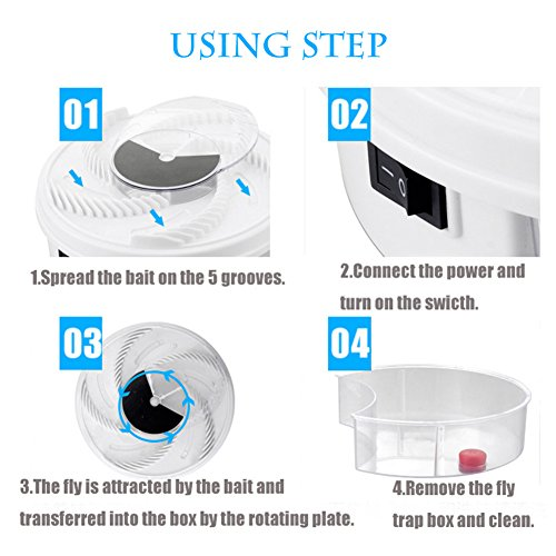 PROEXME Electric Fly Trap Device, USB Powered Fly Catcher, Automatic Fly Insect Killer for Indoor Outdoor Use