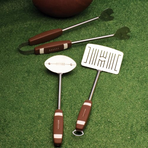 Charcoal Companion 3-Piece Football Barbecue Tool Set