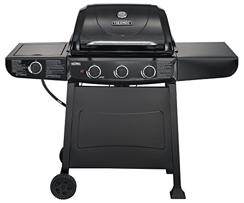 Thermos 370 3-Burner Liquid Propane Gas Grill with Side Burner