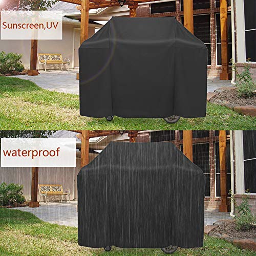 ProHome Direct Heavy Duty Waterproof Grill Cover Fits Weber Spirit 200 and Spirit II 200 Series 2 Burners Gas Grills (Replacement of Weber 7138 Grill Cover),Black