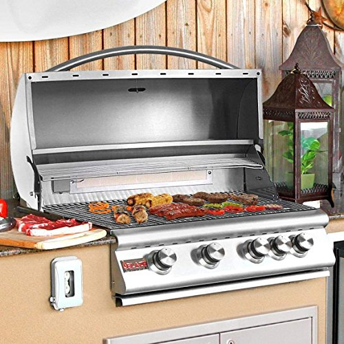 32″ 4-Burner Built-In Gas Grill with Rear Infrared Burner Gas Type: Natural