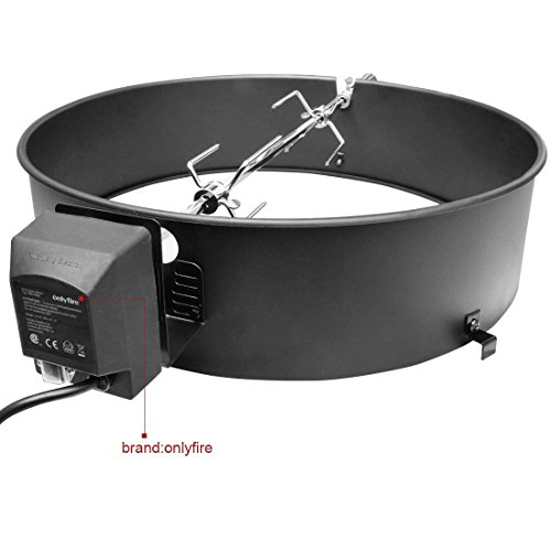 onlyfire 22-1/2-Inch Charcoal Kettle Rotisserie Ring Kit for Weber Char Broil Masterbuilt and Other Models