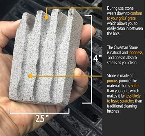 Dasksha 3-Pack BBQ Stone Grill Cleaner Bristle-Free – 4 Inch Pumice Brick