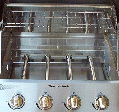 Diamondback Built-In Grill 4 Burner Propane LP Natural Gas 26″ Drop Stainless NG