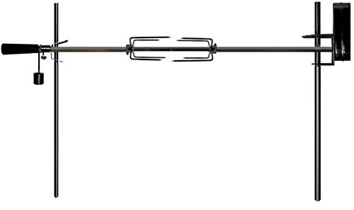 OneGrill Cordless Dual Post Open Fire Rotisserie System- 45″ Chrome (Chrome Motor)