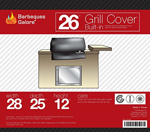 Barbeques Galore 26″ Universal Cover for Built-In Grill