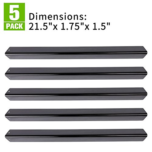 """XHome 21.5"""" Flavorizer Bar, Porcelain Steel Grill Heat Plate Replacement for Weber Spirit 200 Series (with side-mounted control panel), Genesis Silver A  and Other Models (21.5″ x 1.75″x 1.5″,5 Pack)"""