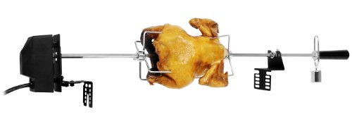 Rotis Pro EC-6002H-2.5+S Rotisserie Kit with Plastic Outcase Motor, 40-Inch Spit Rod, Bakelite Handle, Stainless Steel Meat Forks, Bracket Set and Nickel Plated Balance