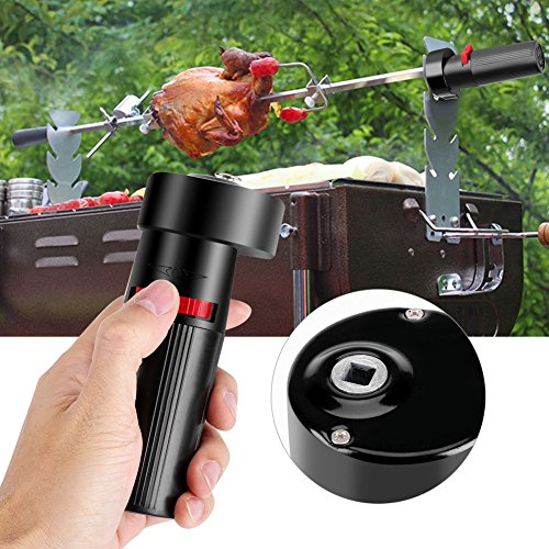 kbxstart 4.2RPM Barbecue Motor Rotisserie Rotator Electric BBQ Grill Rotating Motor For Outdoor Picnic Grill Skewers 1.5V Battery Powered