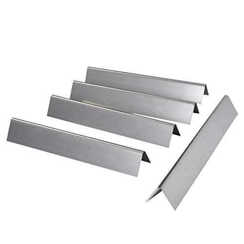 15.3 inch Flavorizer Bars 304 Stainless Steel Heat Plate Repalcement for Weber 7636 Spirit 300 E310 E320 Series Gas Grill with Front-Mounted Control Panel (L15.3 x W2.6x T2.5inch, 5-pack)